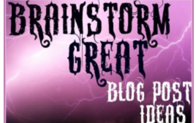 Brainstorming Blog & Article Posts – When you just can't think of another idea!